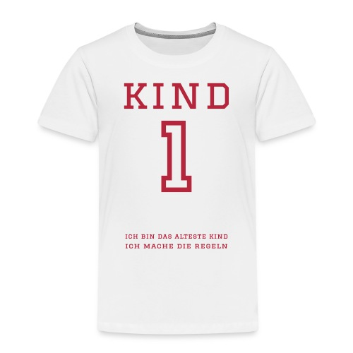 Kind 1 (personalisierbar) - Kinder Premium T-Shirt