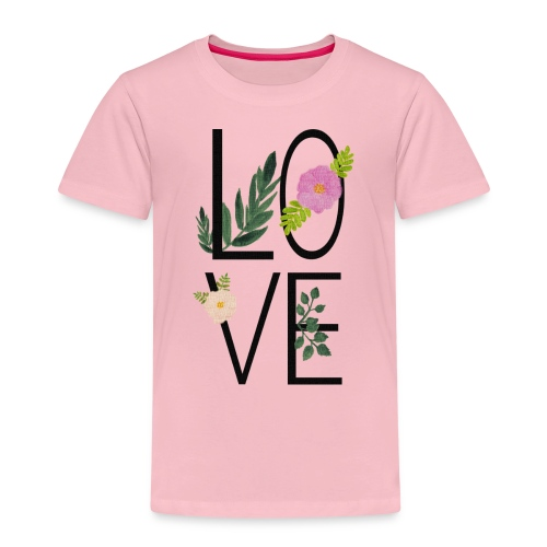 Love Sign with flowers - Kids' Premium T-Shirt