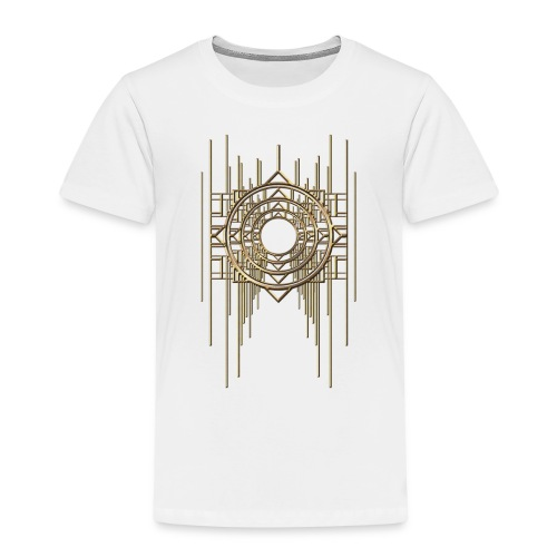 Abstract Geometry Gold Metal Art Deco Vintage - Kids' Premium T-Shirt