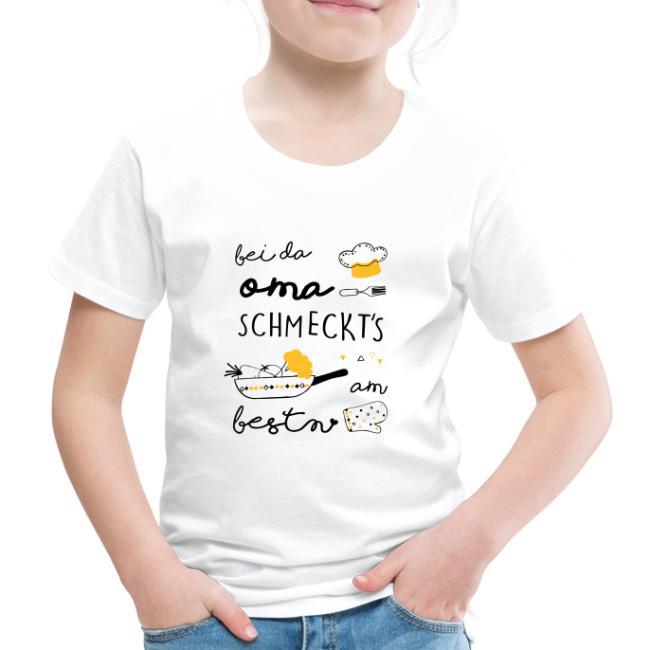 Vorschau: Bei da Oma schmeckts am bestn - Kinder Premium T-Shirt