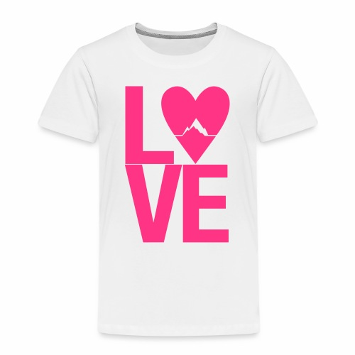 Mountain Love - Kinder Premium T-Shirt