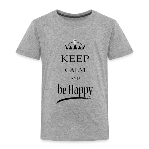 keep_calm and_be_happy-01 - Maglietta Premium per bambini