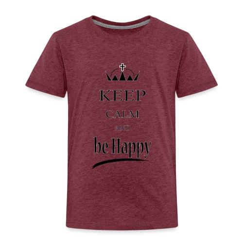 keep_calm and_be_happy-01 - Maglietta Premium per bambini