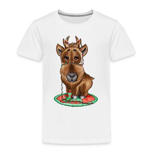 Reindeer refined scribblesirii - Børne premium T-shirt
