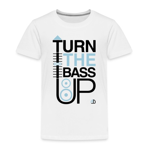 TURN THE BASS UP - Speaker and Music - Kids' Premium T-Shirt
