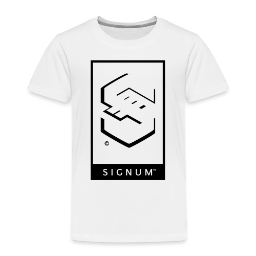 signumGamerLabelBW - Kids' Premium T-Shirt