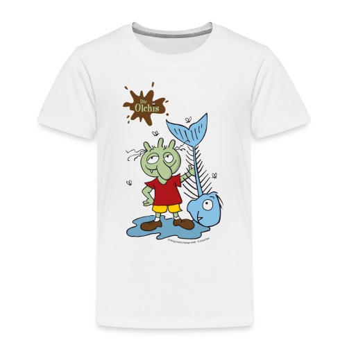 Oetinger Die Olchis mit Fisch - Kinder Premium T-Shirt