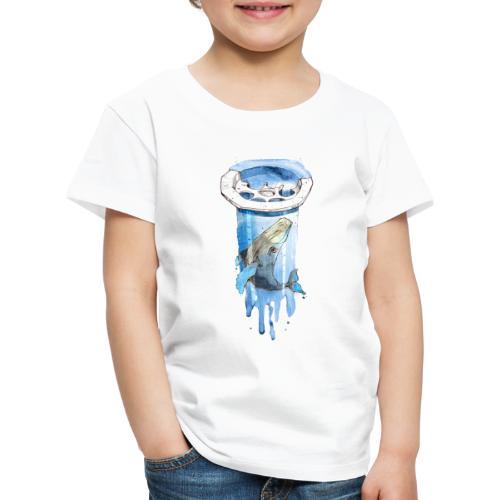 Wal im Abfluss (Whale in the Drain) - Kinder Premium T-Shirt