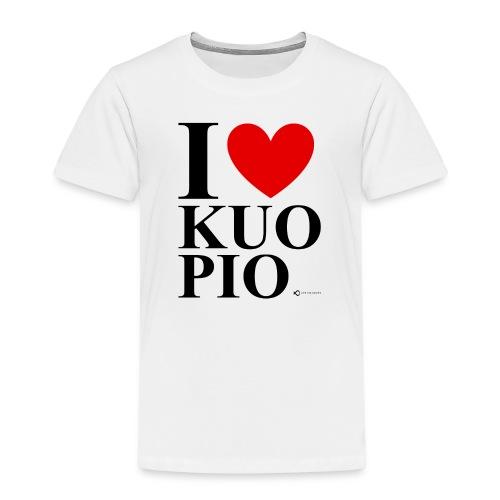 I LOVE KUOPIO ORIGINAL (musta) - Lasten premium t-paita