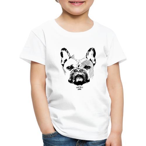 Französische Bulldogge Sketch - Kinder Premium T-Shirt