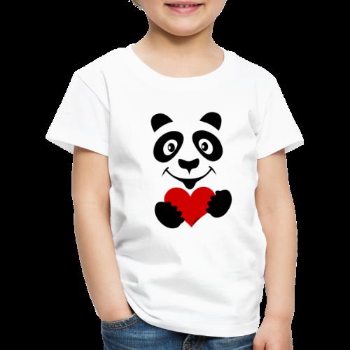 FP10-51A PANDA HEART Tekstiles and Gift products - Lasten premium t-paita