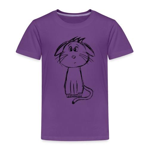 Kissa Kissanpentu musta scribblesirii - Lasten premium t-paita