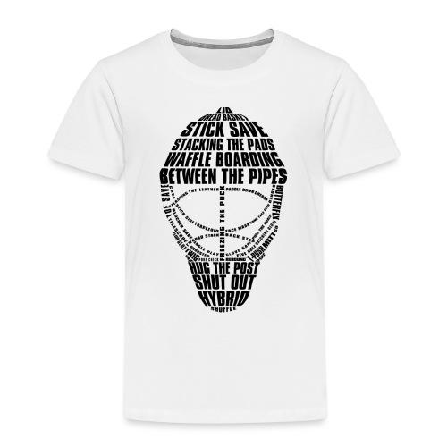 Ice Hockey Goalie Mask (black) - Kids' Premium T-Shirt