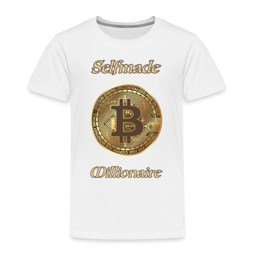 Bitcoin selfmade millionare - Kinder Premium T-Shirt