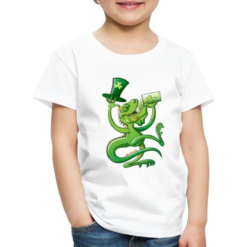 Saint Patrick's Day Iguana - Kids' Premium T-Shirt