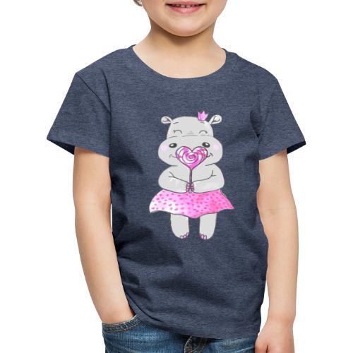 Happy Hippo - Kinder Premium T-Shirt
