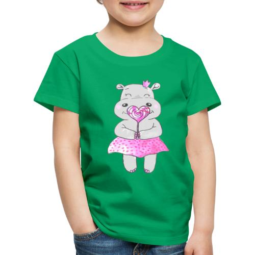 Happy Hippo - Kinder Premium T-Shirt