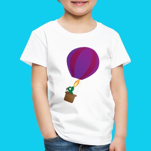 Lohikäärme kuumailmapallossa - Lasten premium t-paita