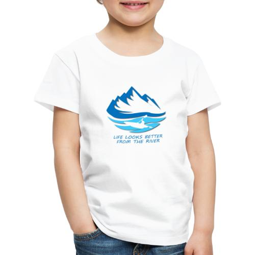 life looks better from the river - blau - Kinder Premium T-Shirt