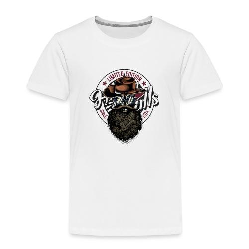 tete de mort crane hipster skull cowboy chapeau - T-shirt Premium Enfant