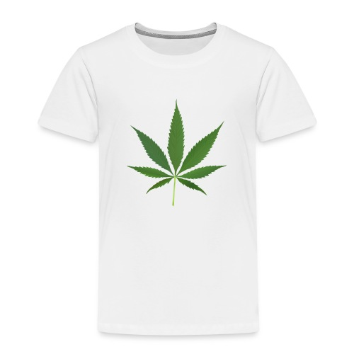 2000px-Cannabis_leaf_2 - Børne premium T-shirt