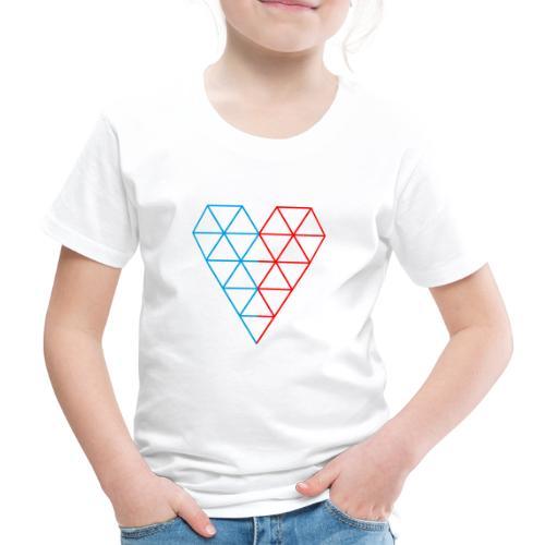 The Heart of Life x 1, Dual Polygon. - Kids' Premium T-Shirt