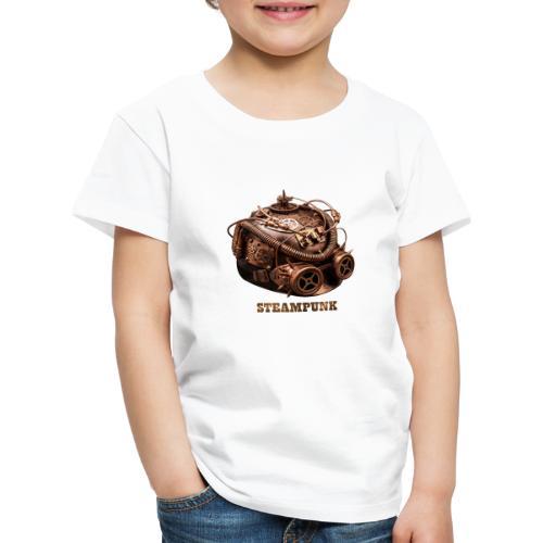 Steampunk Helm Retro Futurismus Gotik - Kinder Premium T-Shirt