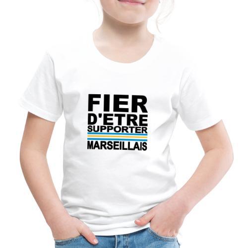 fier marseille noir 01 - T-shirt Premium Enfant