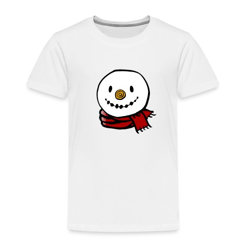 Fröhlicher Schneemann mit rotem Schal Weihnachten - Kinder Premium T-Shirt