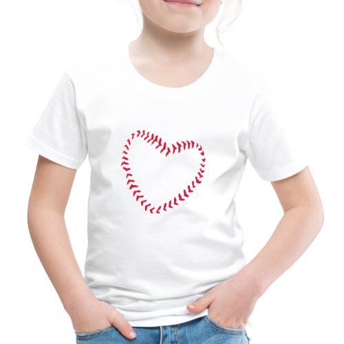2581172 1029128891 Baseball Heart Of Seams - Kids' Premium T-Shirt