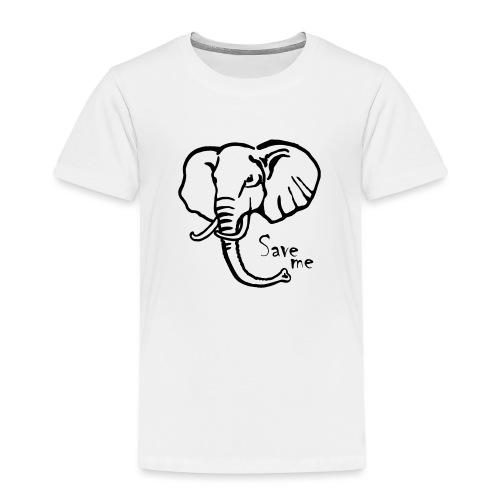 Afrika-Elefant I Save me - Kinder Premium T-Shirt