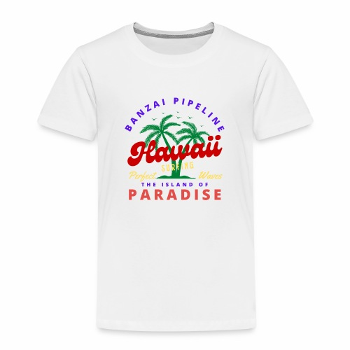 Hawaii Beach Palm Tree Retro Classic T Shirt - Kids' Premium T-Shirt