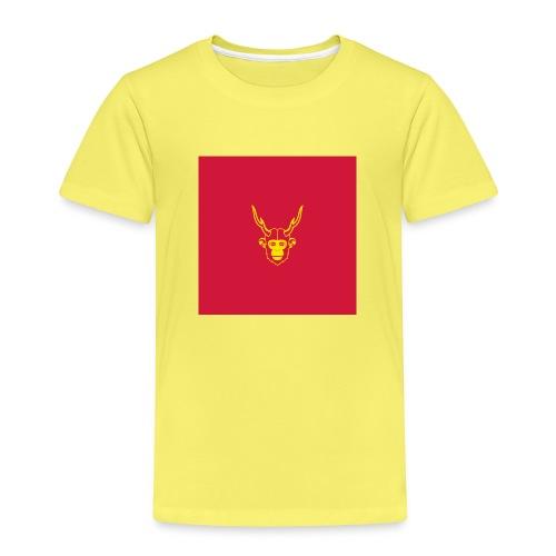 scimmiacervo sfondo rosso - Maglietta Premium per bambini