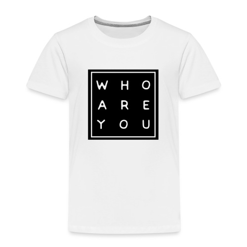 Who are you - Kinderen Premium T-shirt