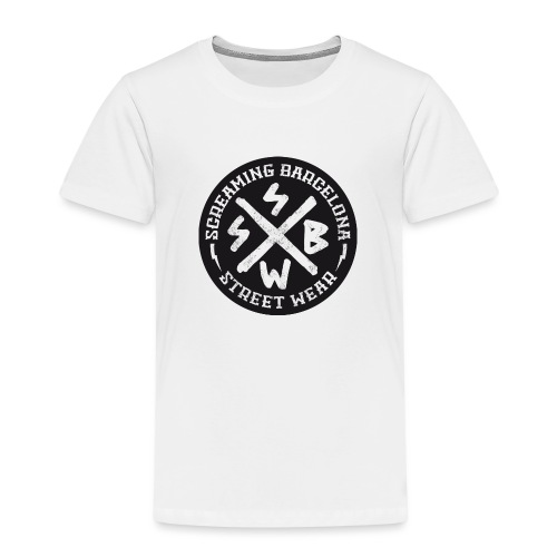 BASIC LOGO SWEATSHIRT BLACK - Camiseta premium niño
