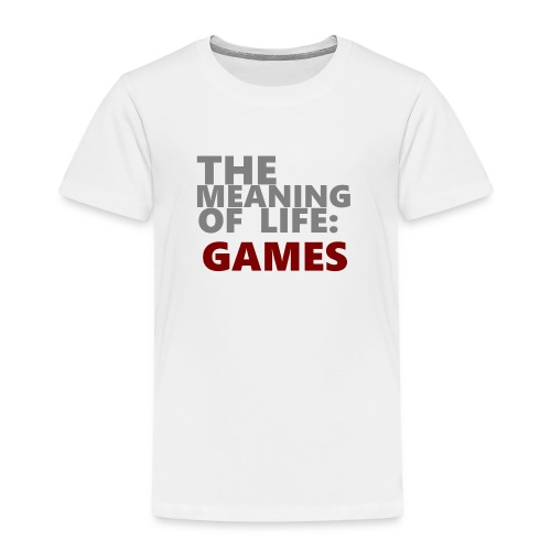 T-Shirt The Meaning of Life - Kinderen Premium T-shirt