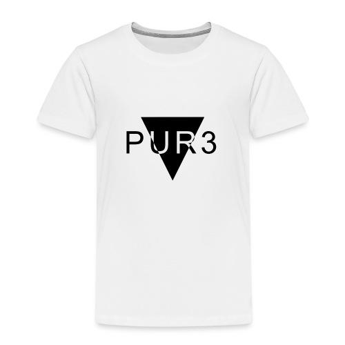 Pur3 grå hettegenser - Premium T-skjorte for barn