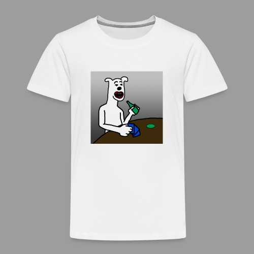 PoopyPoops in het cafe - Kinderen Premium T-shirt