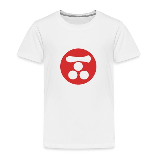 Mori Mon Japanese samurai clan in red - Kids' Premium T-Shirt