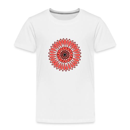 Peach Double Sunflower - Kids' Premium T-Shirt