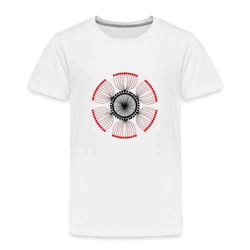 Red Poppy Seeds Mandala - Kids' Premium T-Shirt
