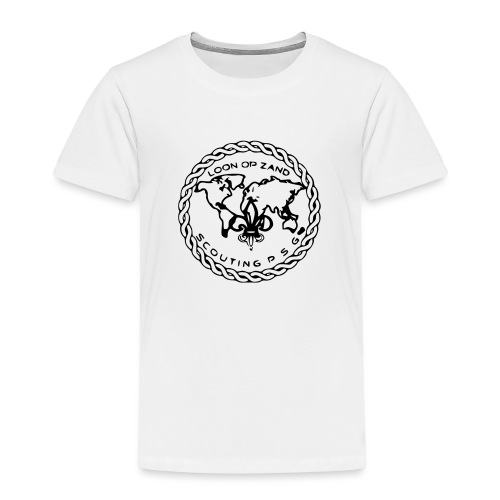 Logo PSG standaard zw klein eps - Kinderen Premium T-shirt