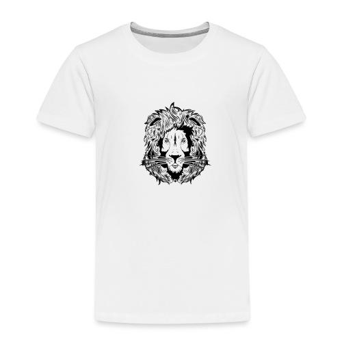 lion black on white - Kids' Premium T-Shirt