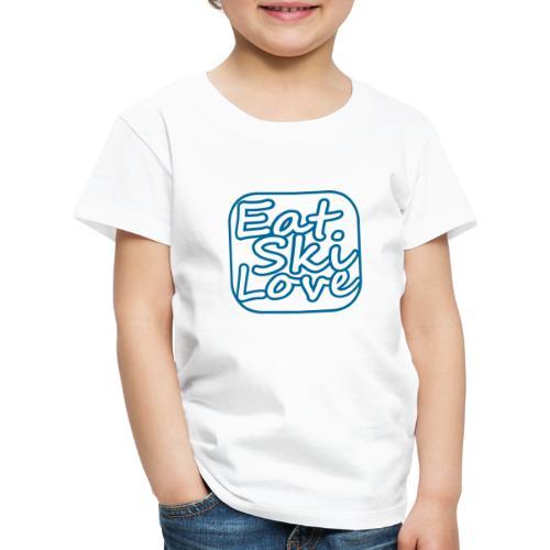 eat ski love - Kinderen Premium T-shirt