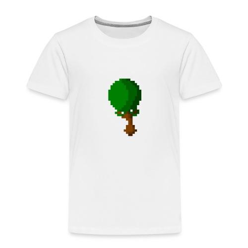 Happy Pixel Tree - Kinderen Premium T-shirt