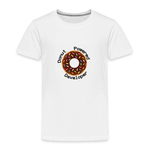 Donut Powered Developer - Camiseta premium niño