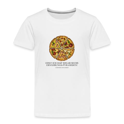 Ernährungspyramide aus Pizza - Kinder Premium T-Shirt