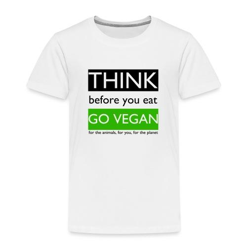 go vegan - Maglietta Premium per bambini