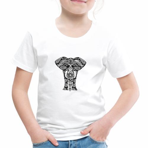 Ażurowy słoń - Koszulka dziecięca Premium