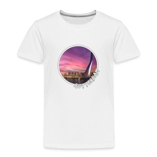 Rotterdam Erasmusbrug Skyline-circle - Kinderen Premium T-shirt
